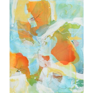 """Liz Barber Leventhal """"California Poppies 2"""" Mixed Media Painting"""