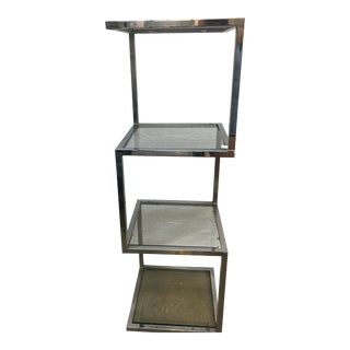 Milo Baughman Chrome & Glass Etagere