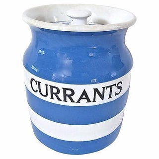 Vintage English Cornishware Currants Canister