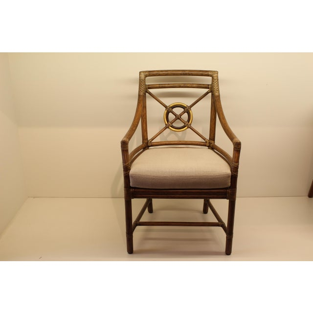 Mcguire Rattan Target 174 Arm Chair Chairish