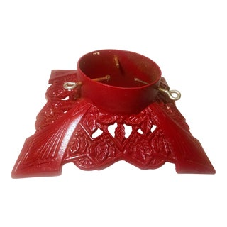 Vintage Cast Iron Red Christmas Tree Stand