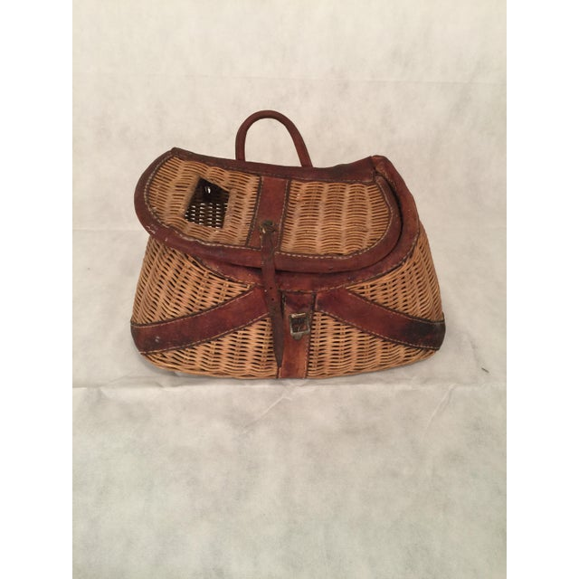 Antique Woven Creel Basket - Image 7 of 7
