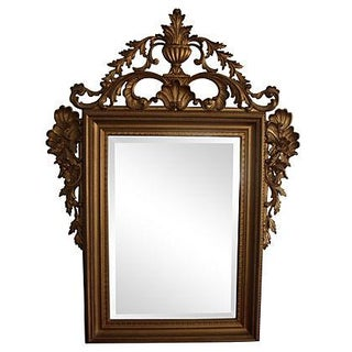 Large Ornate Italian Gold Mirror