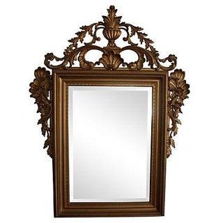 Large Ornate Italian Gold Wall Mirror