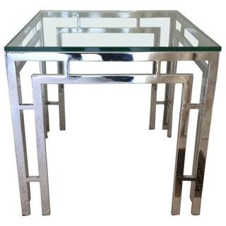 Mid-Century Modern Chrome & Glass End Table