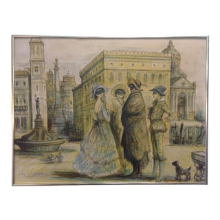 1977 Masquerade a Venice Litho Print by Jacques Lalande