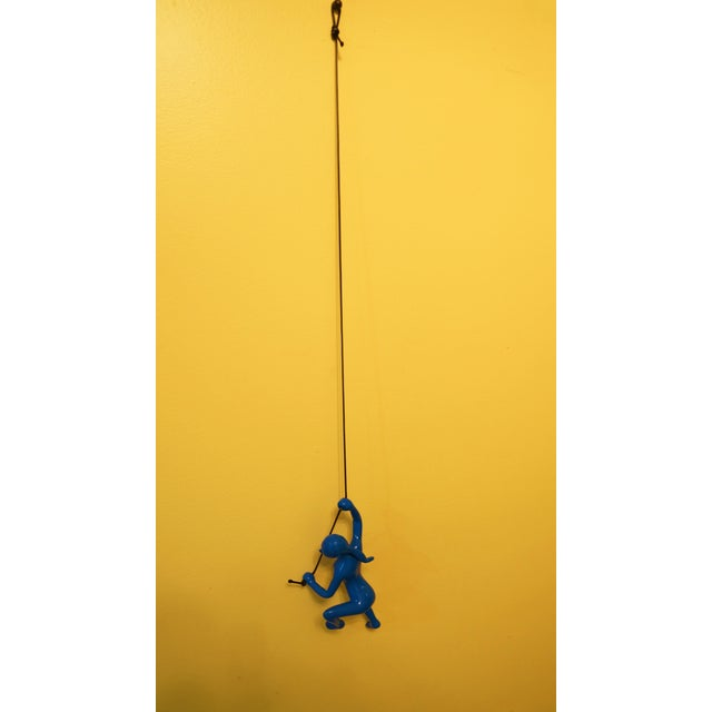 Image of Blue Climbing Girl Wall Art
