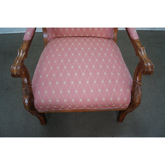 Image of French Empire Regency Arm Chair Fauteuils - Pair