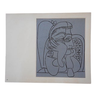 """Vintage Picasso Lithograph-""""Femme Accoudee"""""""