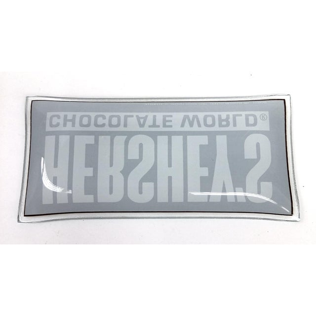 Vintage Glass Hershey's Chocolate Trinket Tray - Image 8 of 10