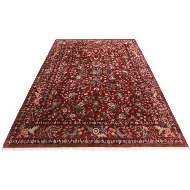 RugsinDallas Burgundy Persian-Style Wool Rug