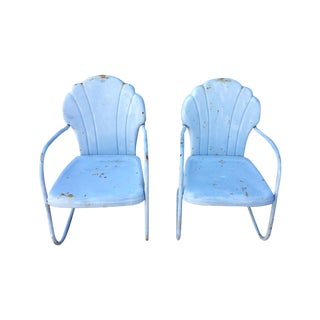 Shellback Metal Motel Chairs - A Pair