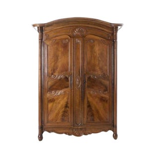French 19th Century Walnut Armoire dated 1850
