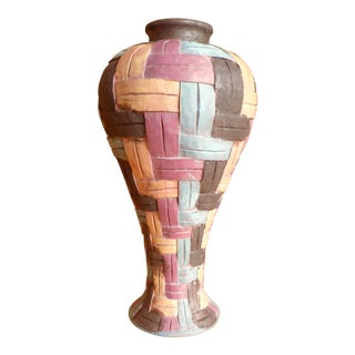 Multicolored Textured Indonesian Vase