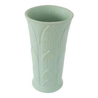 Art Deco-Style Frond Pottery Vase