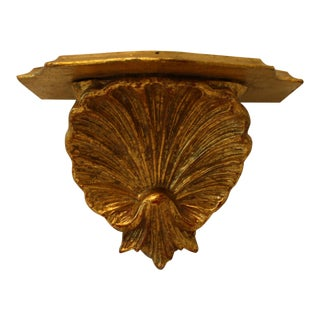 Vintage Florentine Gilt Wall Shell Shelf