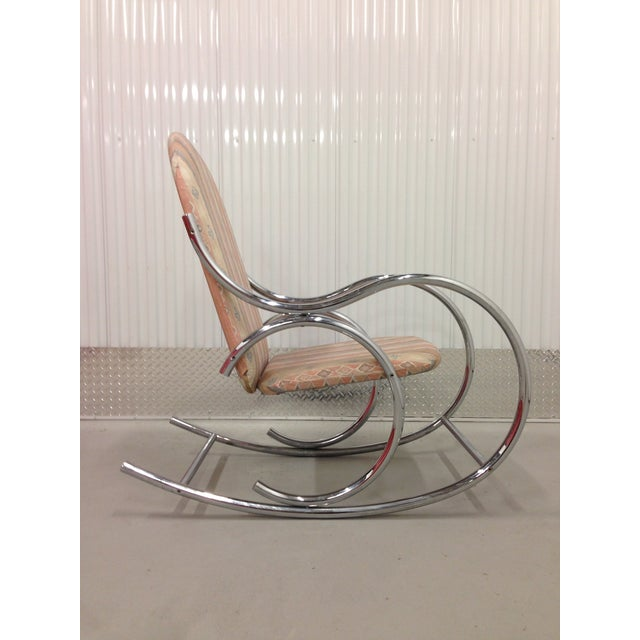 Mid Century Modern Chrome Rocking Chair - Image 2 of 7