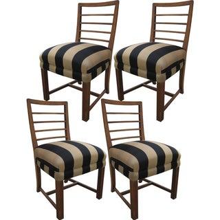 Mid-Century Walnut Dining Chairs - Set of 4