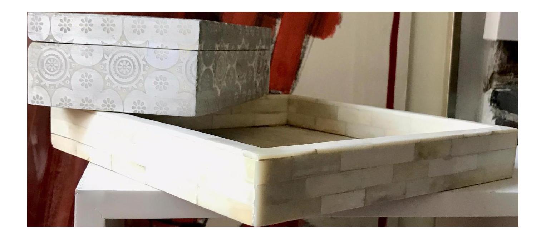 john robshaw bone inlay tray u0026 trinket box a pair image 1