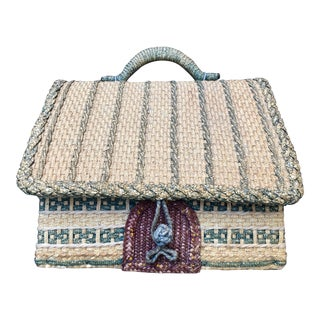 English Woven Cottage Sewing Basket