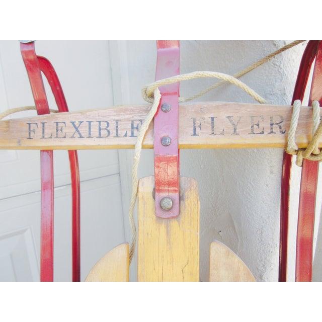 Image of Vintage Decorative Old Wooden Sled