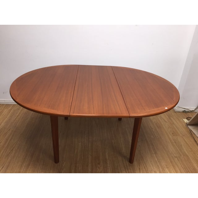 Danish Modern Dinning Table With Leaf - Image 2 of 5