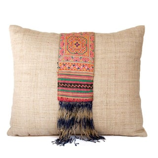 Embroidered Hmong Accent Pillow