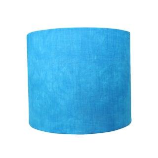 Linen Hand Dyed Blue Designer Lamp Shade