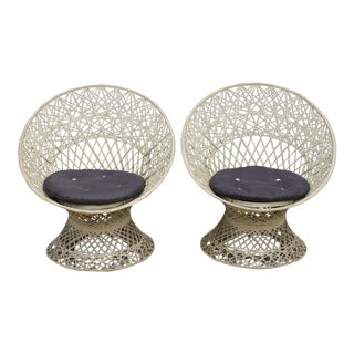 Russell Woodard Spun Fiberglass Chairs - A Pair