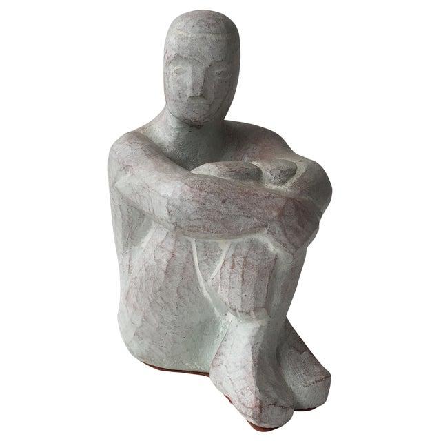 Men Seated Terra Cotta Sculpture - Image 1 of 11