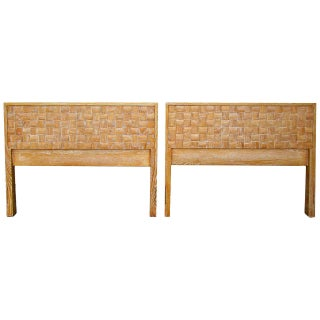 Paul Laszlo Twin Headboards, Brown Saltman - Pair