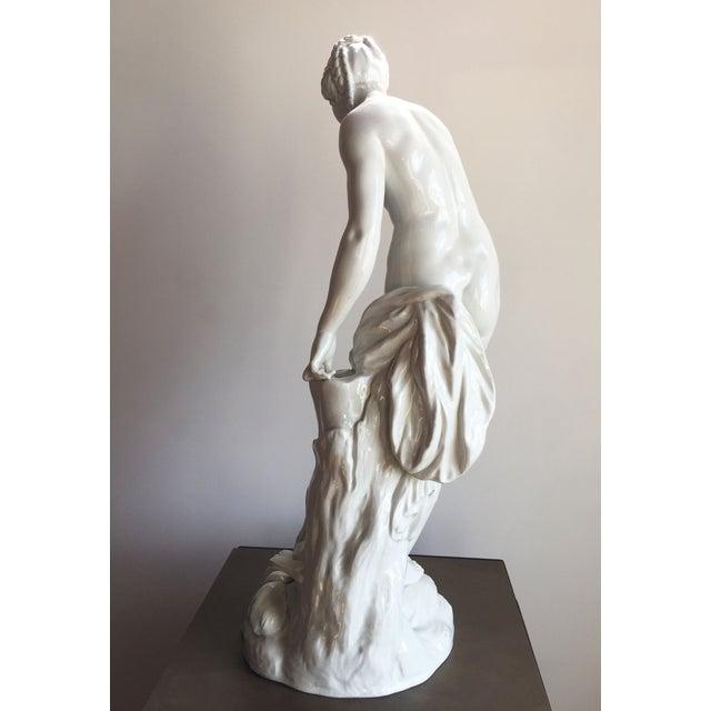 19th C. Falconet Porcelain 'Bather' Sculpture - Image 5 of 10