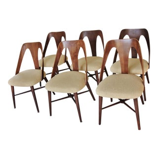 Mid-Century Lawrence Peabody Dining Chairs - Set of 6