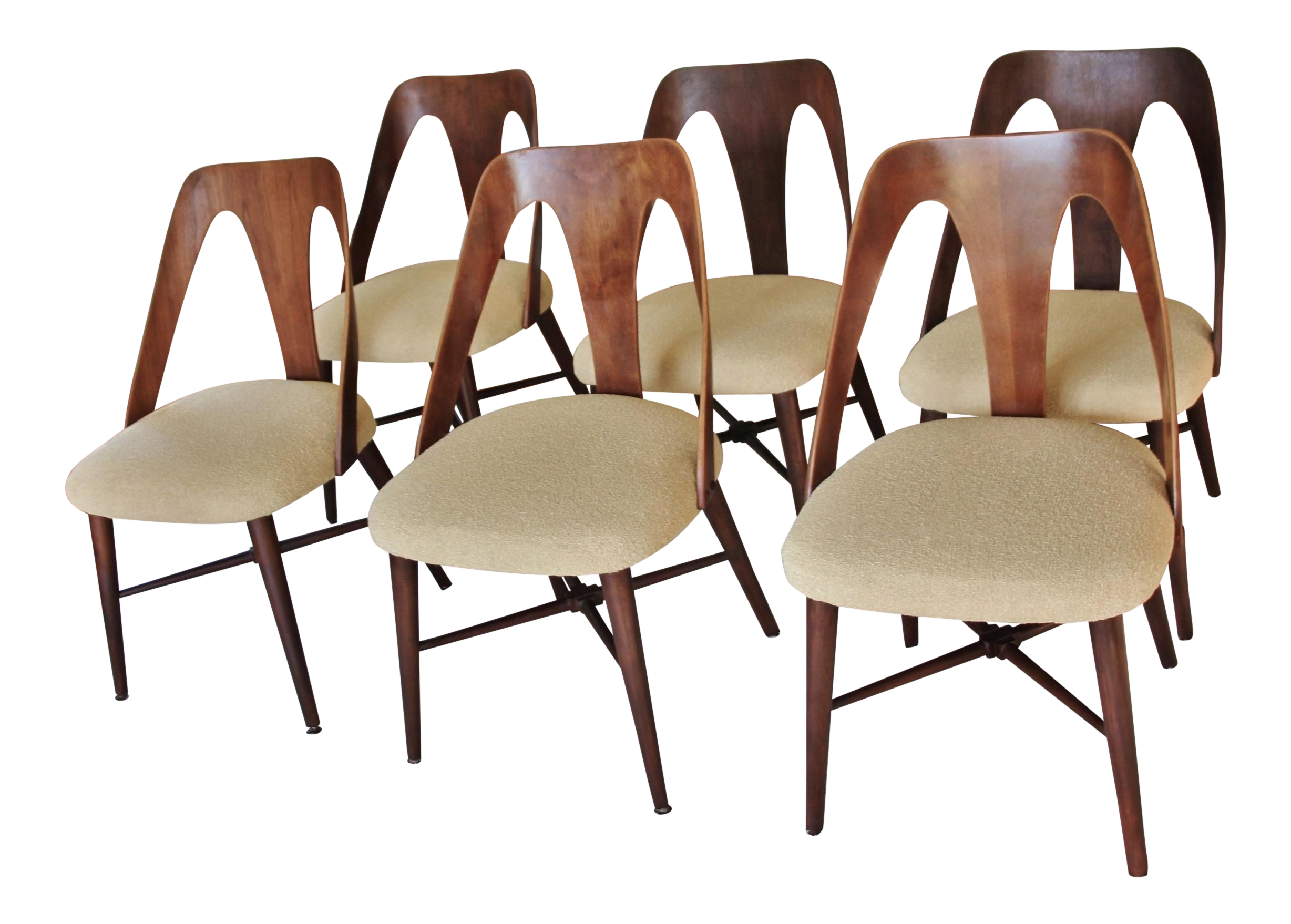 Mid Century Lawrence Peabody Dining Chairs   Set Of 6