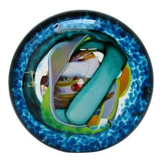 Beck Glass Disc Paperweight