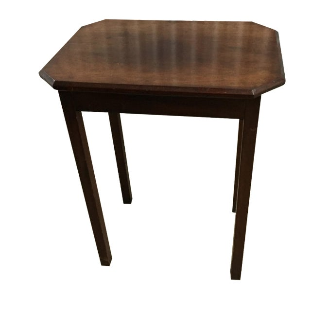 Antique Lift-Top Side Table - Image 1 of 8