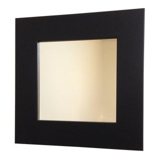 Modern Matte Black Square Wall Mirror
