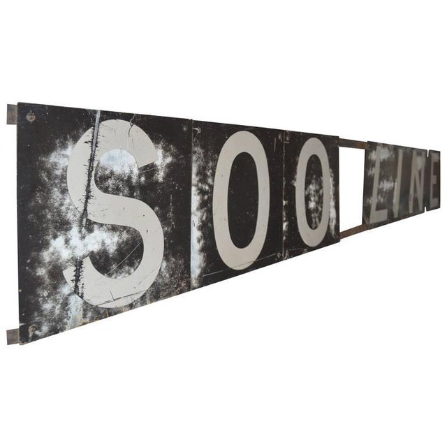Image of Railroad Sign for Soo Line