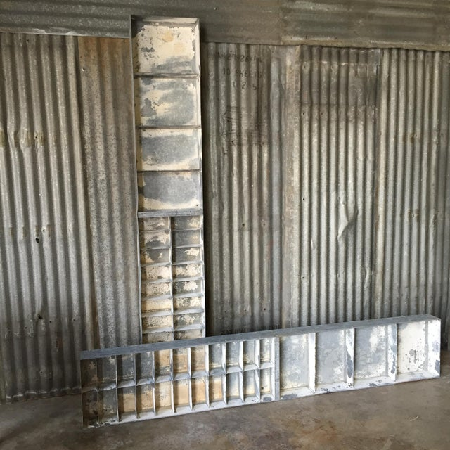 Vintage Large Industrial Metal Storage Shelf Unit - Image 5 of 11