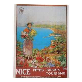Vintage Poster from Nice, France Circa 1973