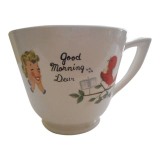 "50s ""Goodmorning You Old Grouch"" Mug"