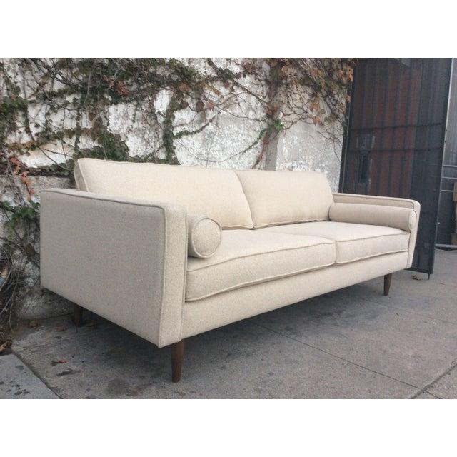 Cream Mid-Century Sofa - Image 3 of 5