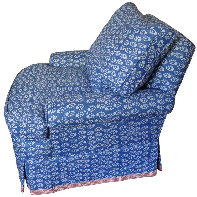 Soane Paw Print Upholstered Chair & Ottoman - Image 2 of 5