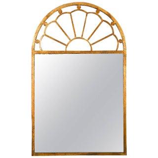 Gilt Encrusted Iron Arch Mirror