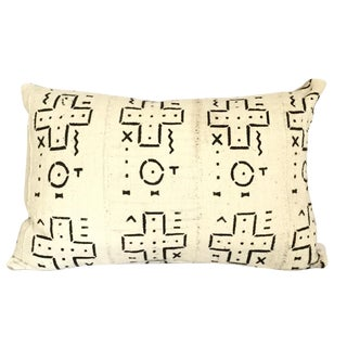 Mud Cloth Black and White Pillow