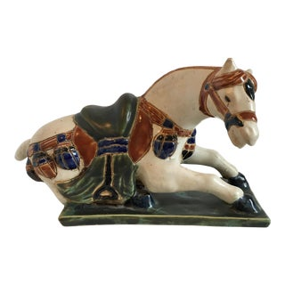 Seated Tang Style Horse Figure