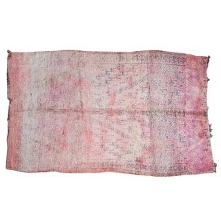"Vintage Moroccan Carpet - 6'8"" X 11'2"""