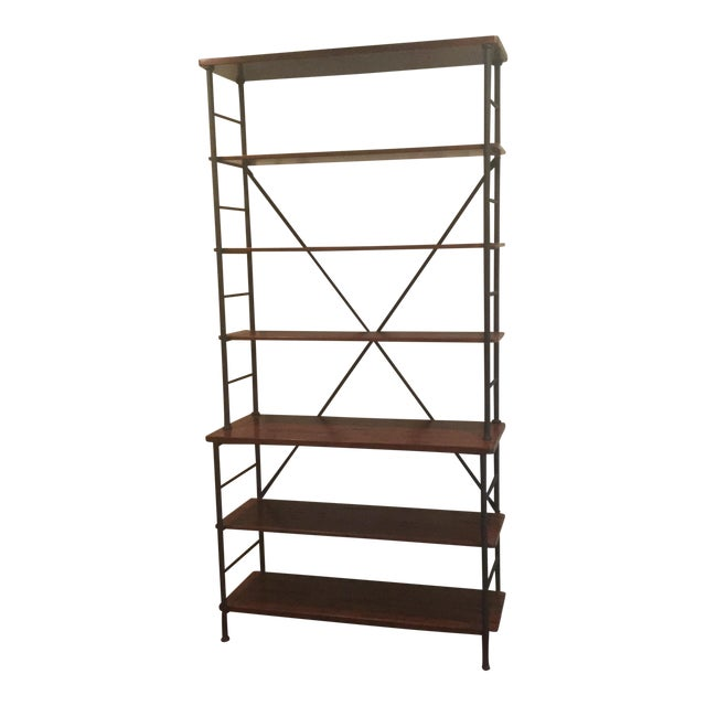 Industrial Metal & Wood Sonoma Bookcase - Image 1 of 4