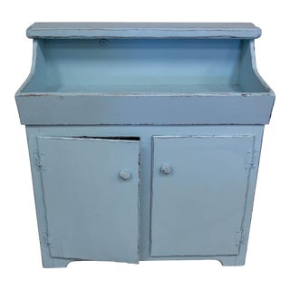 French Blue Vintage Dry Sink Cabinet