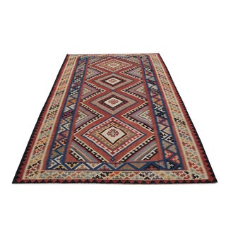 Antique Persian Flatweave Gashgai Kilim - 5′5″ × 9′1″